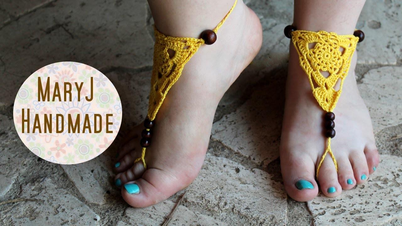 Cavigliera all'uncinetto | Crochet barefoot sandals