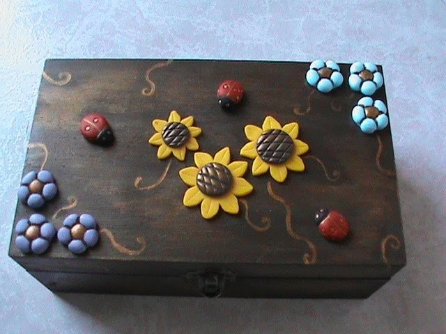 Scatoline decorate e altro ( how I decorated wooden boxes)