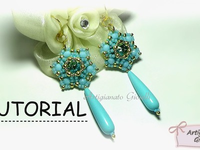 "Tutorial orecchini perline e swarovski ""Narciso"" - DIY earrings"