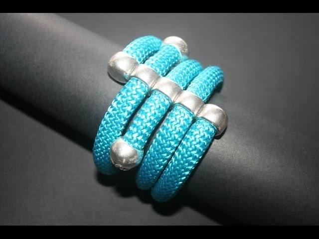 Bracciale Adhara, Tecnica Climbing Rope Jewellery - millelucistones.com