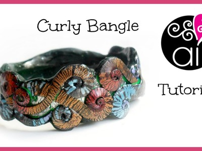 Curly Bangle | Polymer Clay Tutorial | Bracciale Riccioli