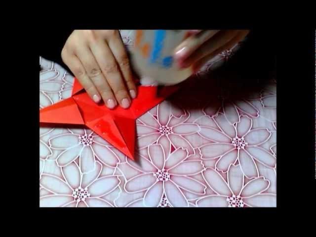 Decorazione stella di carta ♥ Decoration paper star