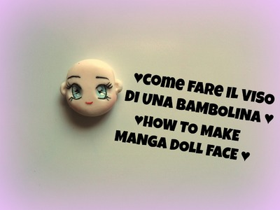 How to make polymer clay doll face- Tutorial Fimo viso dollina