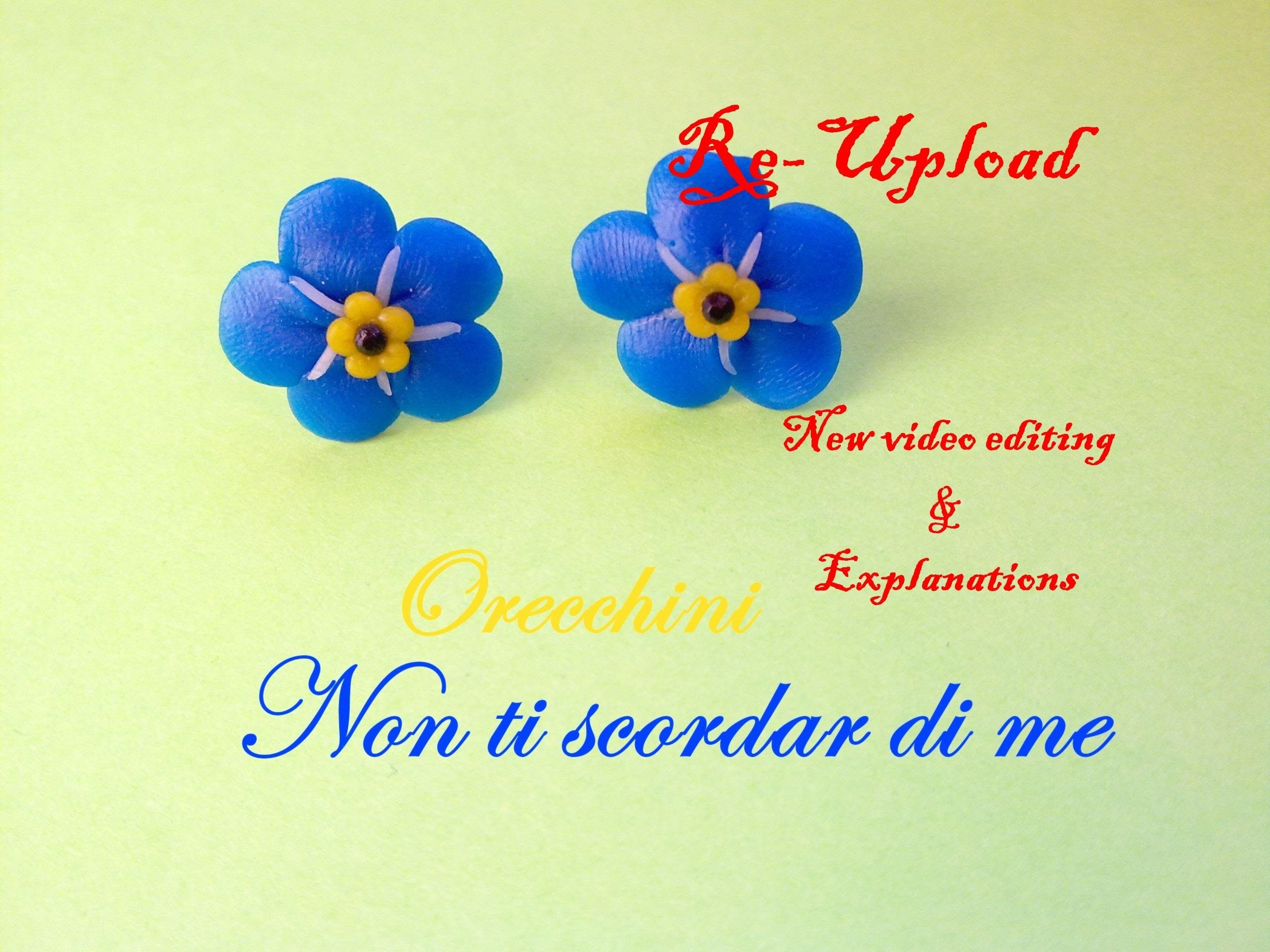 Non Ti Scordar di Me ❀ Forget Me Not - Polymer Clay Flower Tutorial →