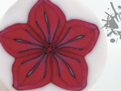 Polymer clay tutorial murrina fiore rosso. millefiori cane Red flower