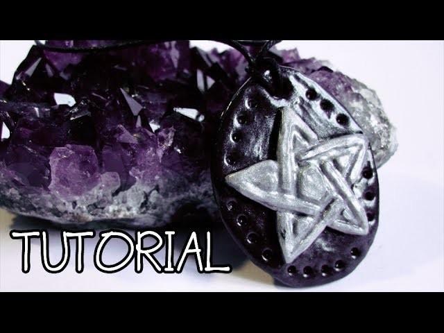 Polymer Clay Tutorial - Wiccan Pentacle | kiarouge