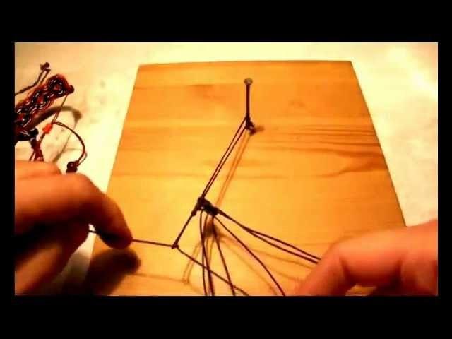 Tutorial bracciale macramè rombo.flv