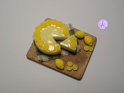 Tutorial: Cheesecake al limone in fimo (lemon cheesecake in polymer clay) [eng-sub]