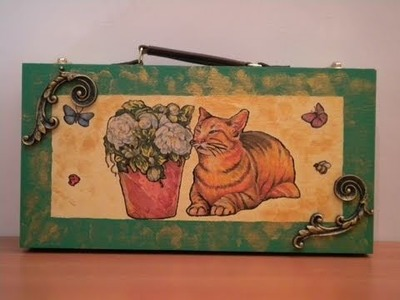 Tutorial: Decoupage su portapennelli con decori in resina (seconda parte)
