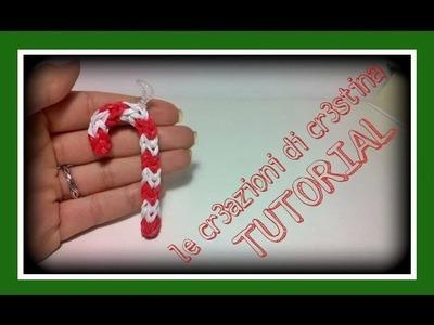 Tutorial Lecca Lecca 3D Natalizio con Elastici RAINBOW LOOM - DIY Christmas Candy Cane Charm