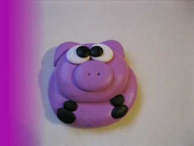 Tutorial maialino in fimo. Polymer clay pig