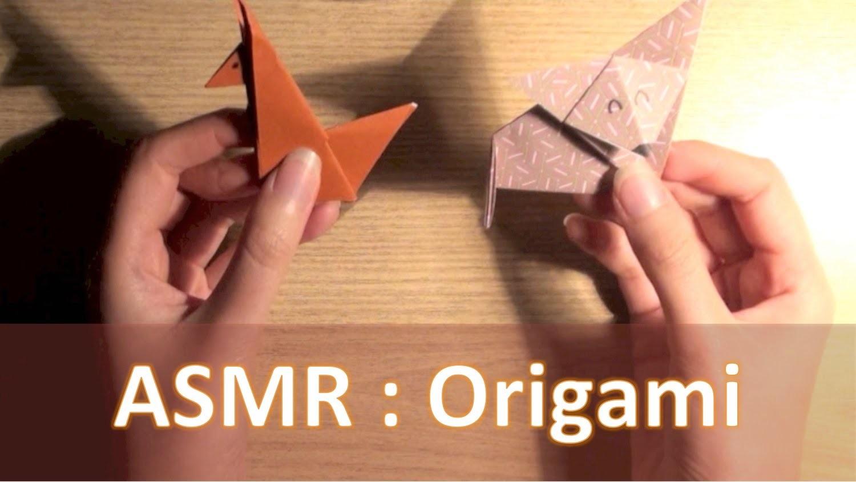 ASMR ITA Origami: spiegazione e 3 esempi (折り紙) [whispering]