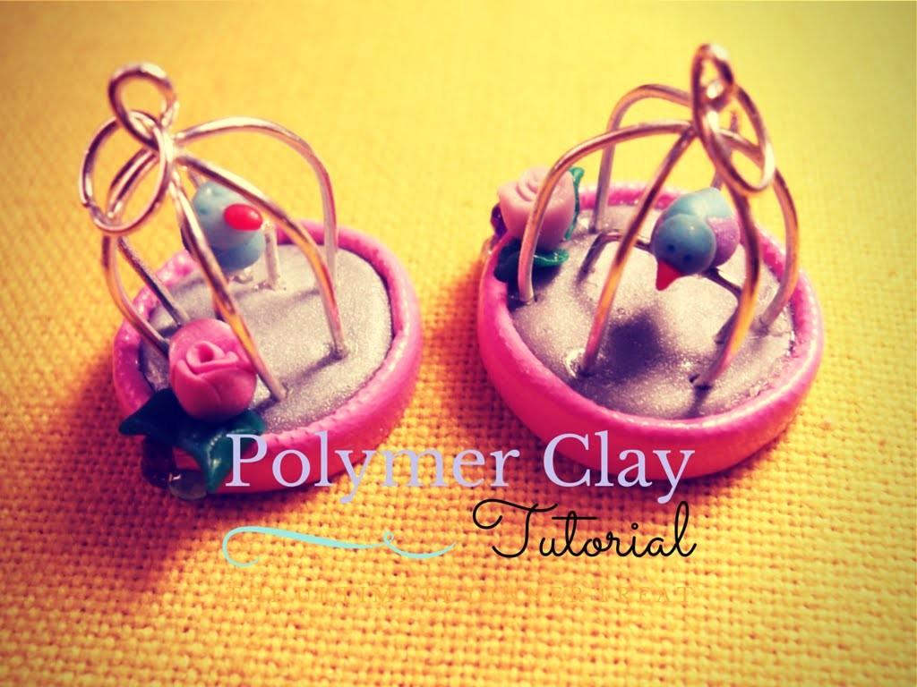 Charm Gabbietta ed Uccellino ♥ Birdcage and Bird Charm - (Polymer Clay Tutorial)