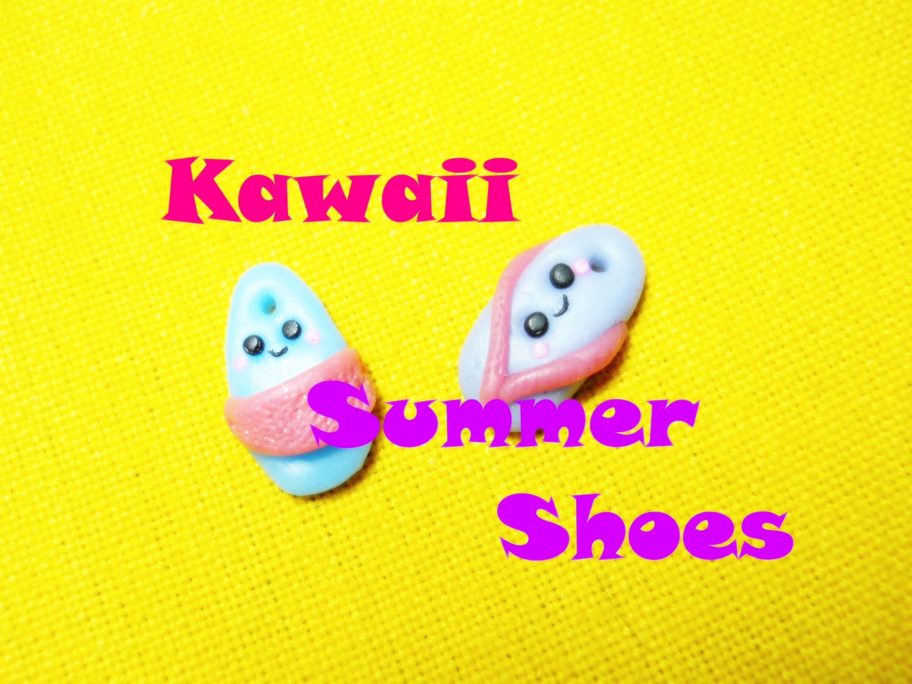 Ciabattine Kawaii ☼ Kawaii Beach Shoes - Polymer Clay Tutorial
