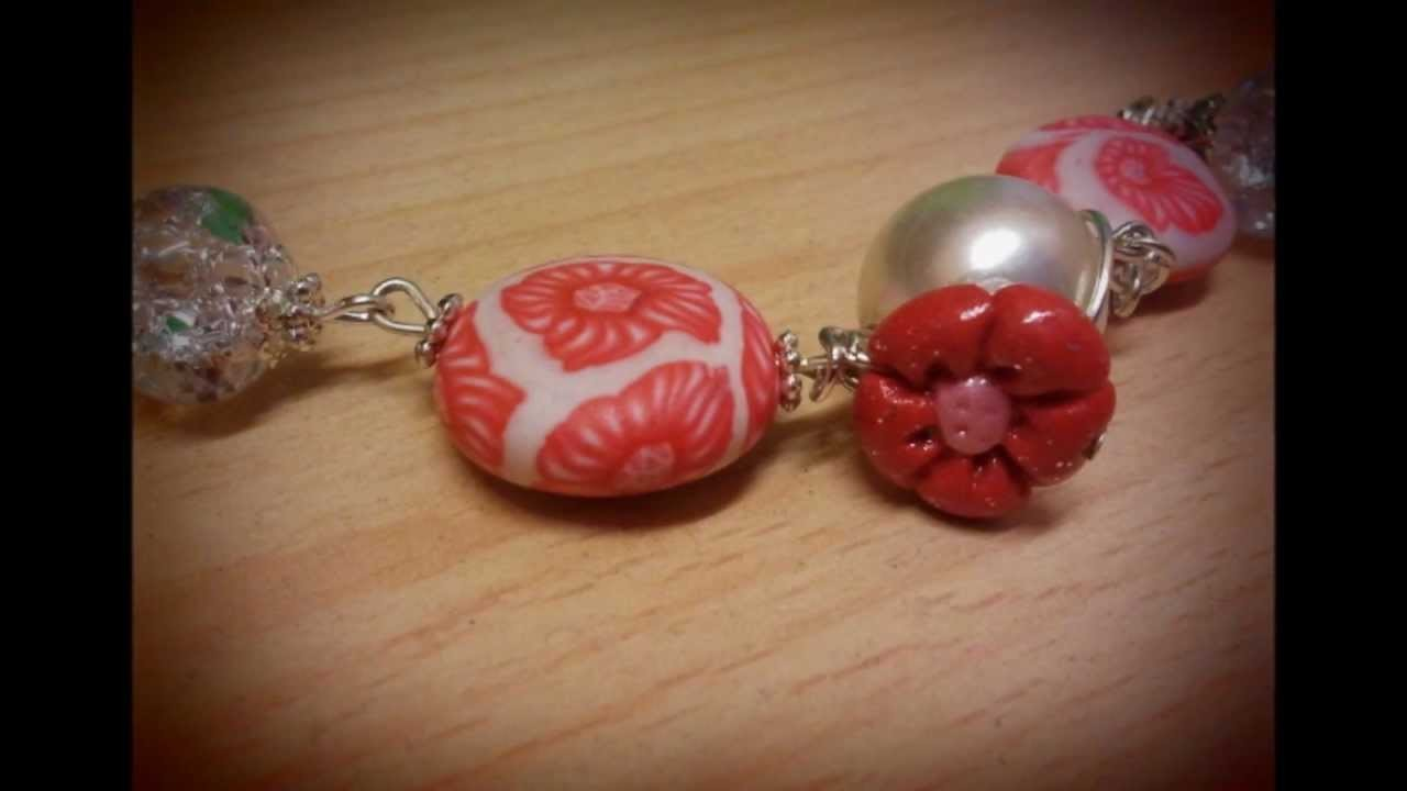 """Collane con gioielli in fimo: necklaces with polymer clay jewelery"""