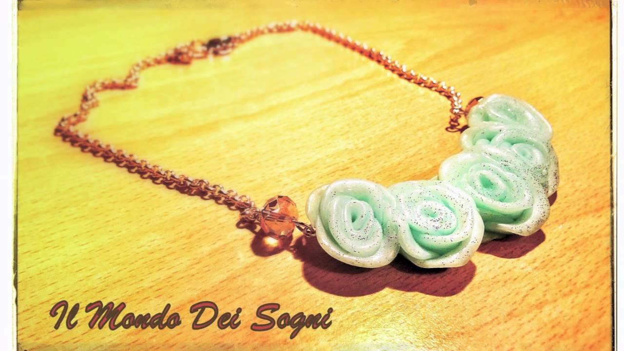 Collane orecchini in fimo, polymer clay handmade