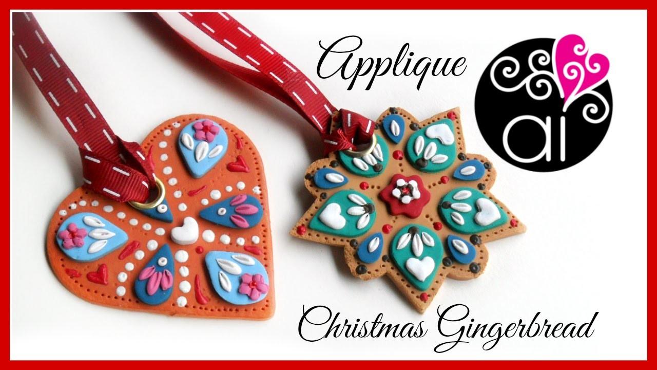 DIY Christmas Decorations | Applique Technique | Polymer Clay Tutorial | Decorazioni di Natale