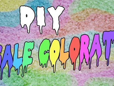 DIY - sale colorato - TUTORIAL