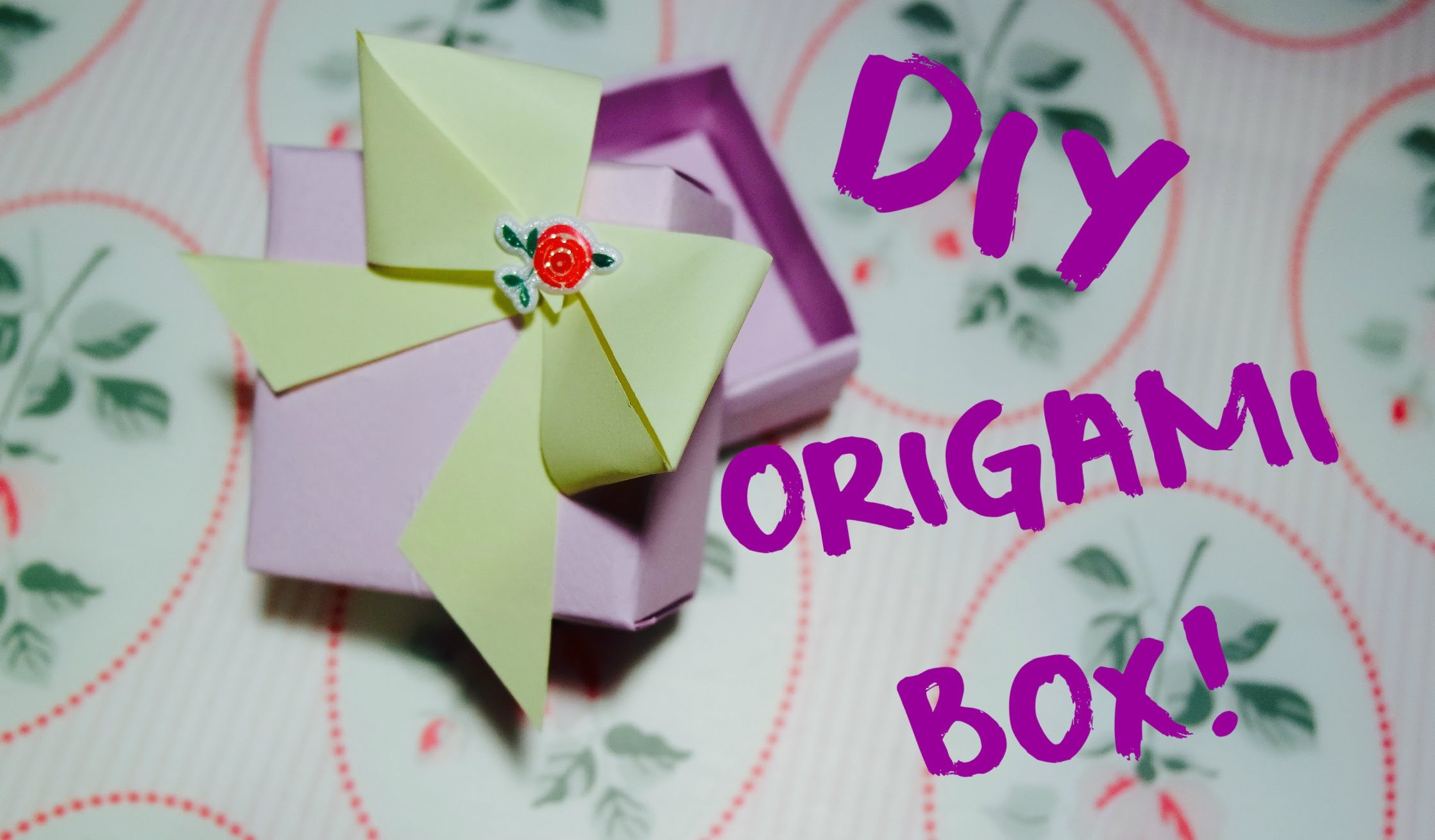DIY Tutorial : Easy Origami Box!  + Vincitori del Giveaway!