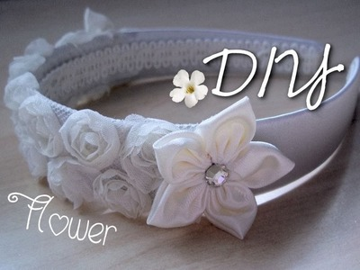DIY Wedding: Fabric Floral Hairband   ✂   Tutorial: Fiorellini in Stoffa per Cerchietto Speciale