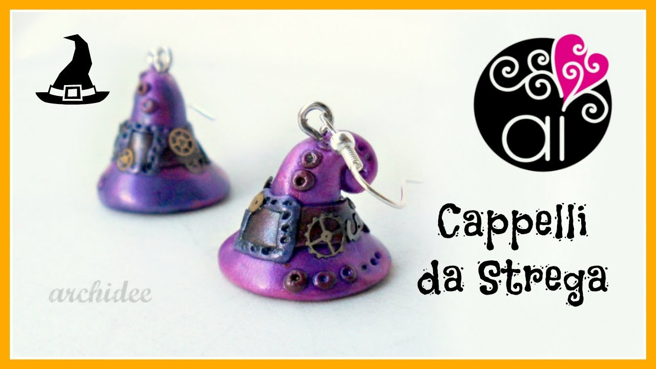 DIY Witch Hat | Polymer Clay Tutorial | Cappelli da strega Steampunk