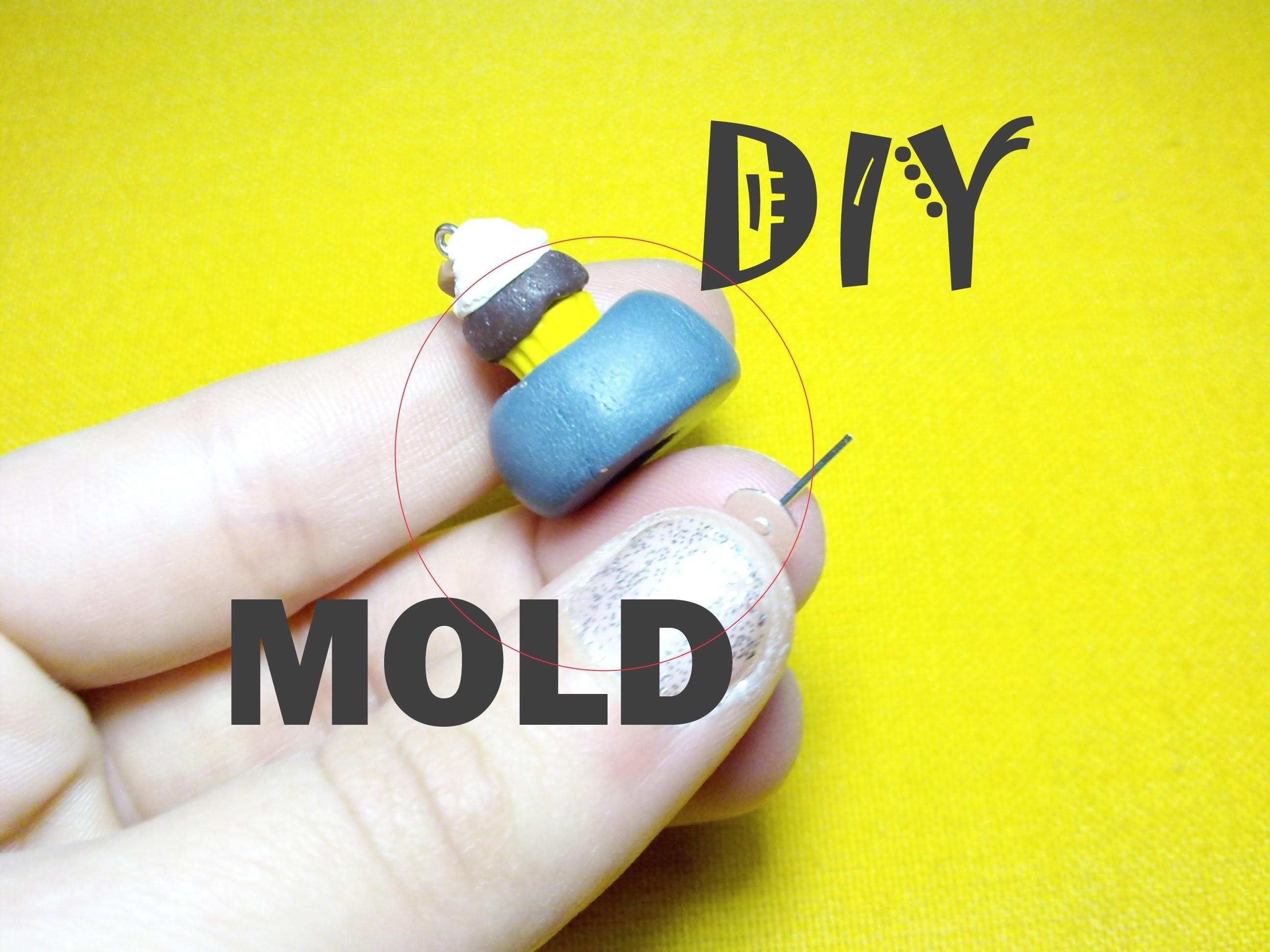"""Easy DIY """"Stampino ad Espulsione"""" per creare le basi dei cupcakes ☞ Polymer Clay Mold Tutorial"""