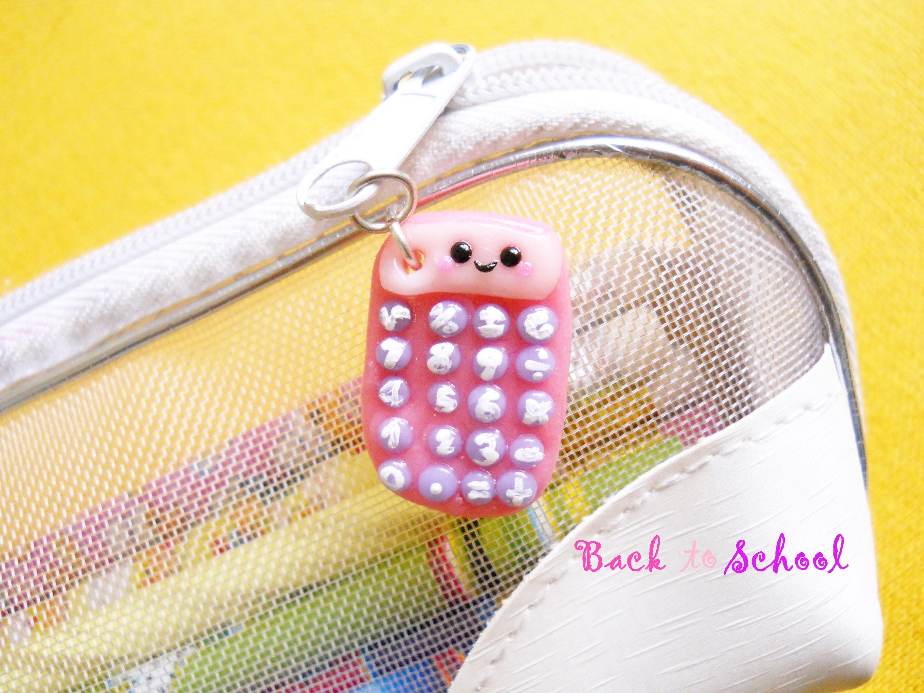 Kawaii Calculator - Calcolatrice Kawaii ✎ Back to School. Polymer Clay Tutorial
