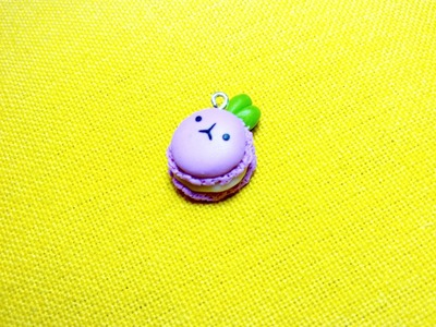Kawaii Strawberry Bunny Macaron ♡ Coniglietto Macaron Kawaii alla Fragola (Polymer Clay Tutorial)