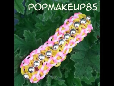 Loom bands tutorial italiano- intreccio con perline facile!