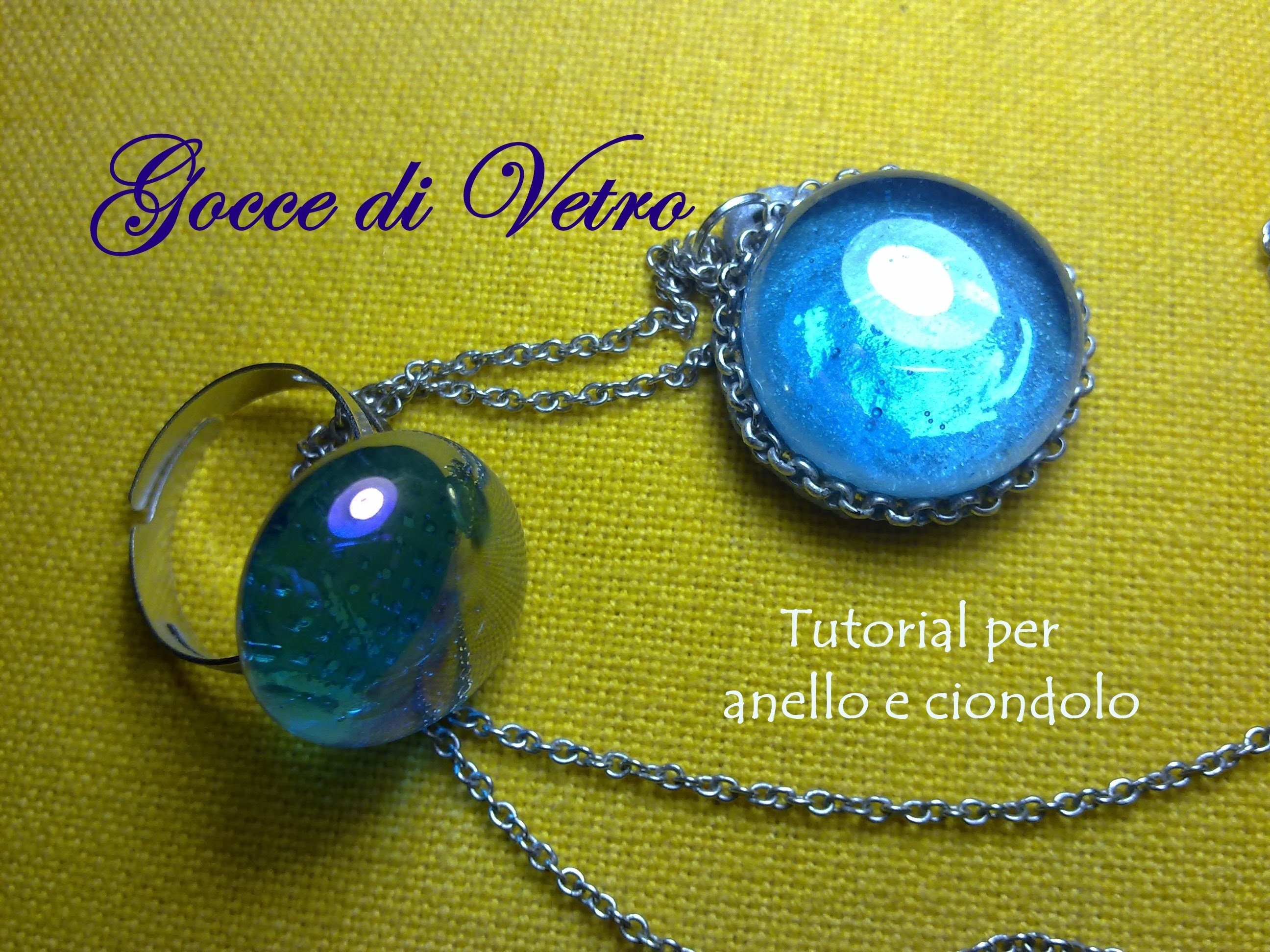 Parure con le Gocce di Vetro ♡ Glass Drops Jewelry Set (+ Polymer Clay) - Tutorial