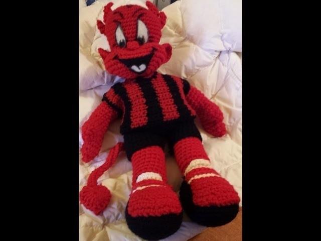 Pupazzo Uncinetto - Diavoletto Milan amigurumi - Parte I - Tutorial crochet