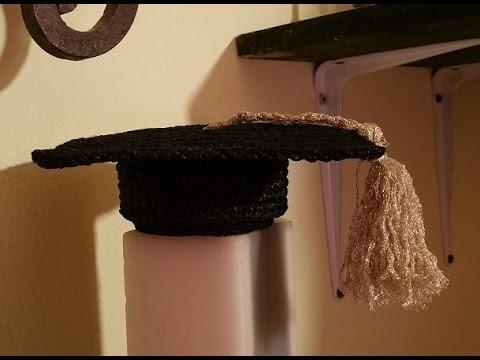 Tutorial bomboniera laurea all'uncinetto -   crochet fancy sweet-box university degree