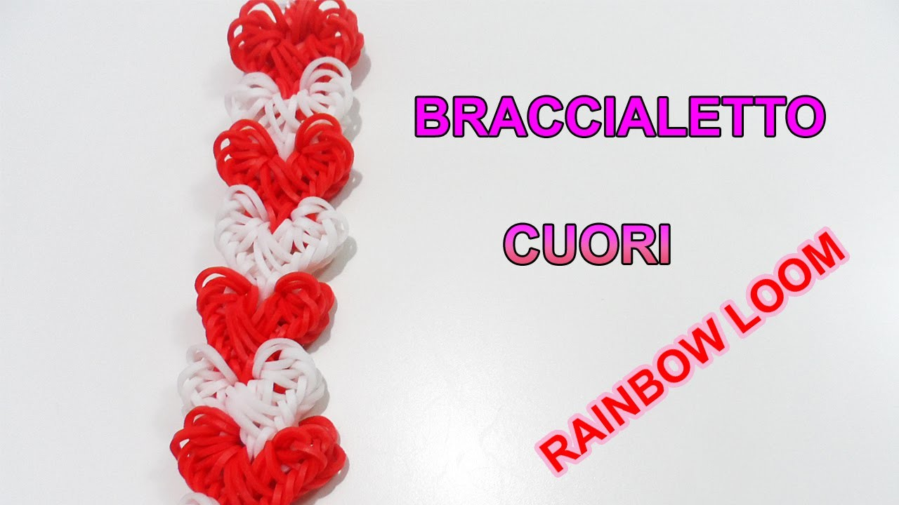 ♥ Tutorial Braccialetto Love Lock Con Elastici Rainbow Loom  ♥
