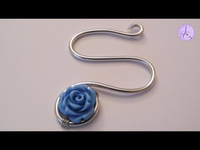 Tutorial: Ciondolo a forma di lettera S in wire (charm with artistic wire) [eng-sub]