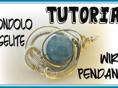 Tutorial Ciondolo in wire con angelite - DIY Wire pendant con Perles&co