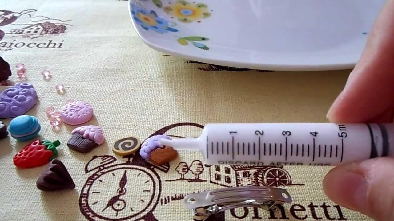 Tutorial: come decorare una pinza per i capelli (tutorial polymer clay)