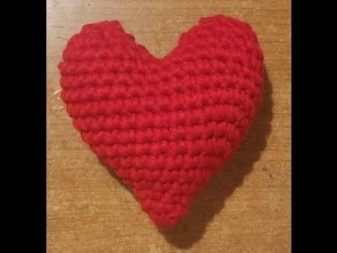 """Tutorial cuore all'uncinetto """"grande"""" - amigurumi - heart crochet - crochet corazón"""