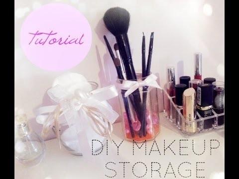 Tutorial: DIY make up storage! | porta pennelli e porta ovatta fai da te