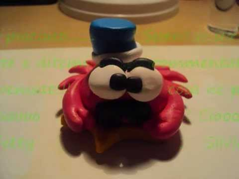Tutorial granchio in Fimo. Cernit - Polymer clay Crab - Creazioni.wmv