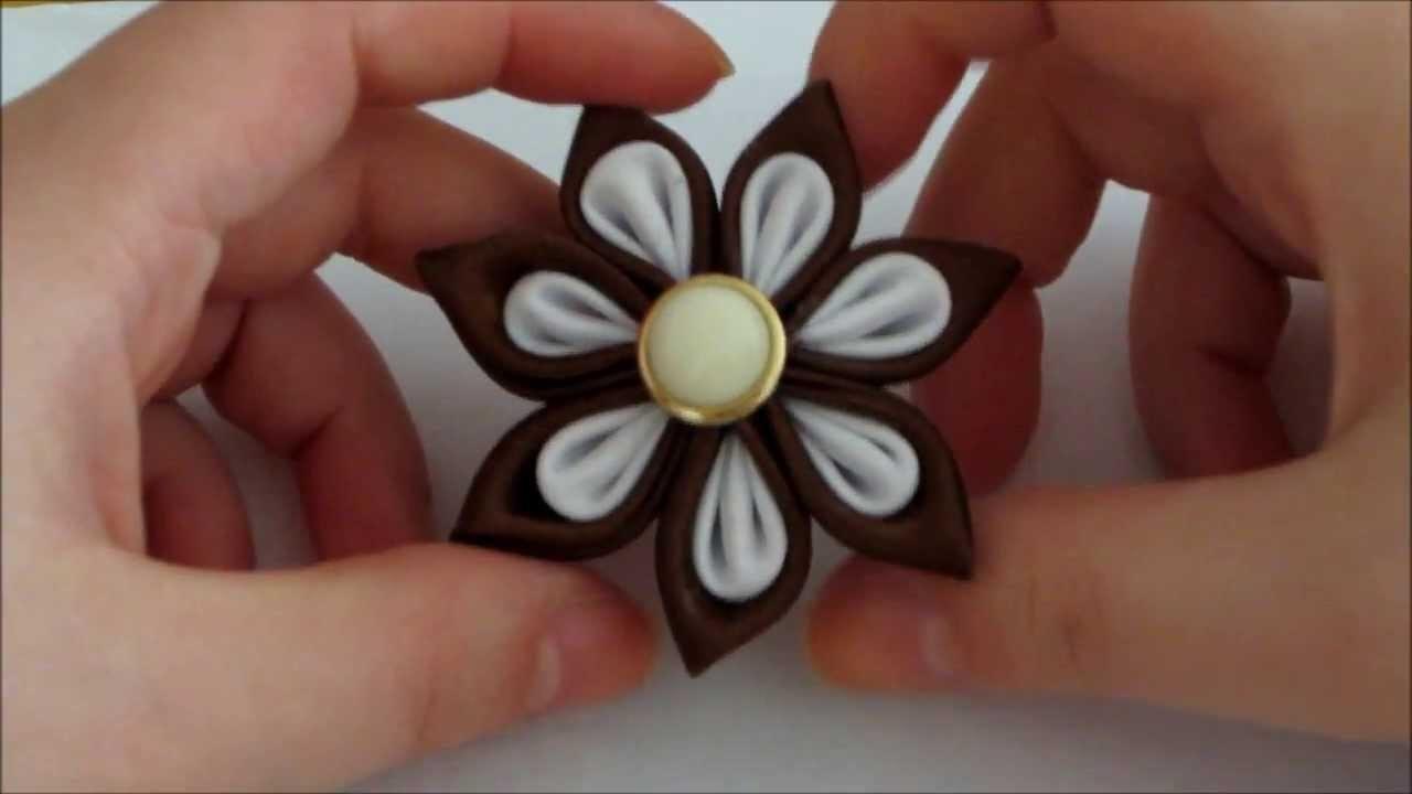 TUTORIAL- KANZASHI di raso con petali particolari