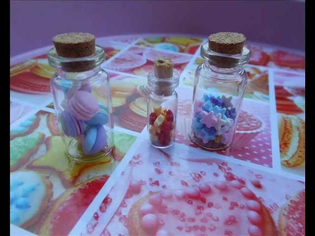 Tutorial mashmallow, macaron e stelline in bottiglia (tutorial polymer clay)