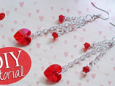 Tutorial: Orecchini Pendenti - ♥ - DIY Earrings for Valentine's Day
