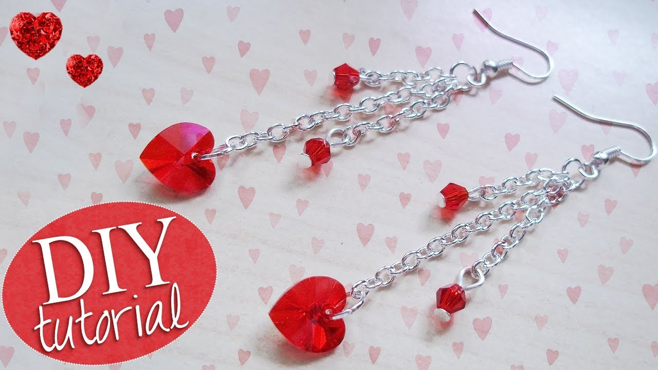 Tutorial: Orecchini Pendenti - ♥ - DIY Earrings for Valentine's Day