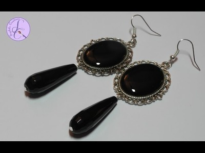 Tutorial: Orecchini vittoriani con cammeo in resina (resin victorian earrings) [eng-sub]