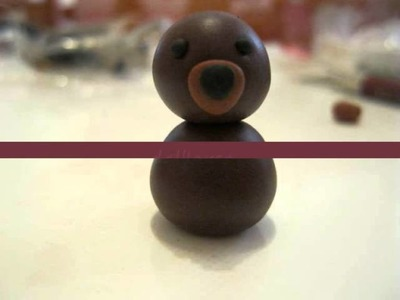 Tutorial Orsetto di fimo. Polymer clay Bear