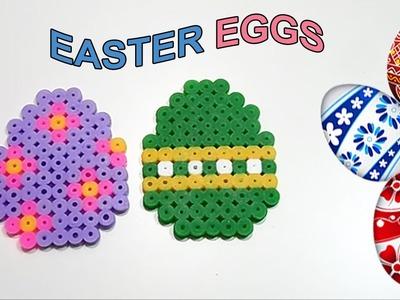 "♥ Tutorial Ovetti di Pasqua con Pyssla.Hama Beads ""Easter Eggs Perler Bead"" ♥"