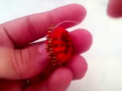 TUTORIAL PERLINE [02] Ciondolo Simba - perline, rocailles, superduo, rivoli