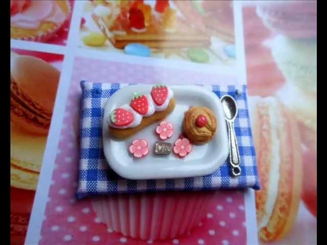 Tutorial piatto in miniatura con dolcetti (polymer clay tuturial)