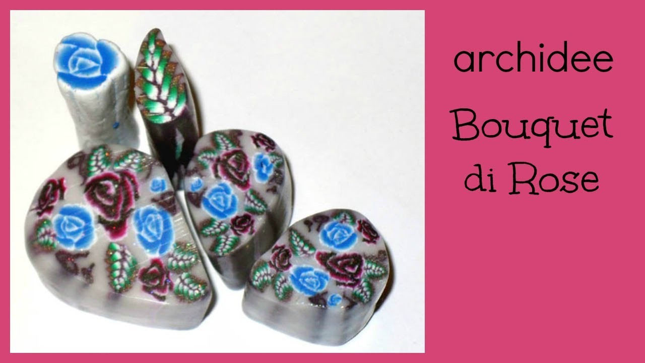 Tutorial | Polymer Clay | Murrina Bouquet di rose | DIY Cabochon