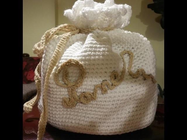 Tutorial portapane all'uncinetto - panera crochet - crochet breadbox